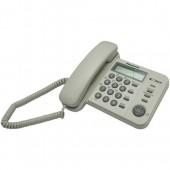 Телефон проводной Panasonic KX-TS2356 RU-W белый_АОН, Caller ID