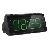 Радио-часы Rolsen CR-142 черный