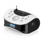Магнитола BBK BS-01 USB/SD черный/белый