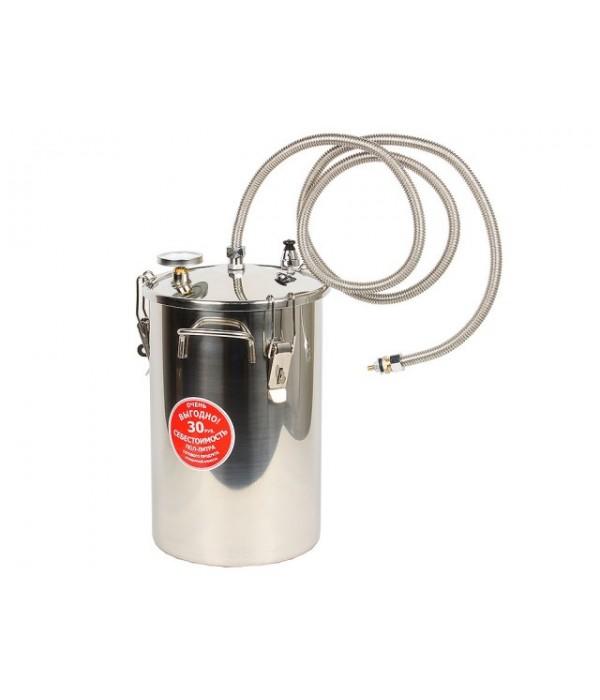 Дистиллятор Первач ЭлитДачно-Деревенский 17Т домашний, 17л, термометр, клапан избыт. давления, охладитель, съемная крышка, без использования водопро 21354563