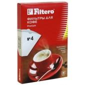 Фильтр для кофеварки FILTERO №4/80, уп.80шт., коричневые с колбой на 8-12чашек