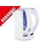 Чайник Centek CT-0043 White 2 л, 2200Вт, внутренняя LED подсветка, большое окно уровня воды