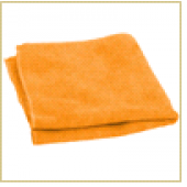 Салфетка из микрофибры M-01, цвет: рыжий, размер: 30*30см