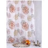 """Штора текстильная/ванны и душа """"Монвуар"""" 880195, 180х200см, цв. белый/розовый/терракот"""