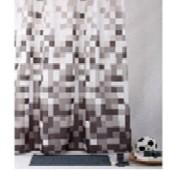 """Штора текстильная/ванны и душа """"Мозаика"""" 950263, 180х200см., цв. белый/чёрный"""