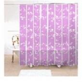"""Штора текстильная/ванны и душа """" Лиловые линии"""" Dialogl-purple, 180х200см."""