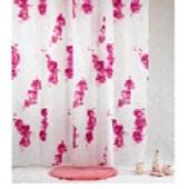 """Штора текстильная/ванны и душа """"Сатори"""" DSCN3088, 180х200см, цв. белый/розовый"""