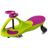 Машинка детская «БИБИКАР»  с полиуретановыми колесами, салатово-фиолетовая DE 0057