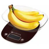 Весы кухонные Centek CT-2456 (шоколад) электр., max 7кг(!!!), шаг 1г, большая съемная чаша, дисплей