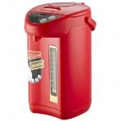 Чайник-термос Великие Реки Чая-7 красный, 800 Вт, 5,6 л, полезный 4 л, металл корпус, колба из нерж. стали, съемный шнур