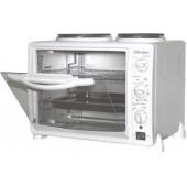 Жарочный шкаф Redber EO-2550, 750-1000 Вт, 25 л, печь+2 конфорки, терморегулятор 0-250С, 3 режима, таймер 60 минут