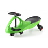 Машинка детская «БИБИКАР»  с полиуретановыми колесами, зеленая DE 0042