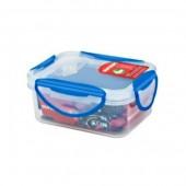 Пластиковый контейнер Oursson CP-0400 S/TA прозрачный с синим_прямоугольная