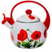Чайник эмалированный Элис -250 2,5л со свистком