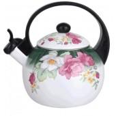 Чайник эмалированный Элис -252 2,5л со свистком