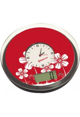 Весы кухонные Sakura SA-6057 5кг электр., красный