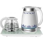 Набор для чая Sakura SA-2903С, 1850 2200Вт., чайн1,7л+завар1,5л  керам дисп