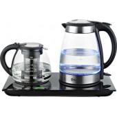 Набор для чая Sakura SA-2904G, 1850 2200Вт.,  чайн1,7л+завар1,5л стекл дисп