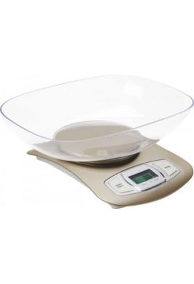 Весы кухонные Sakura SA-6065i электронные, 5кг.,  беж зол